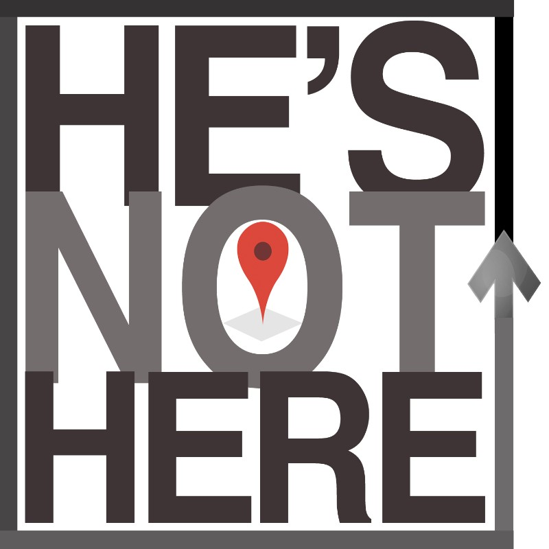 He's Not Here logo